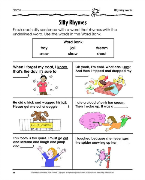 Scholastic Printables Silly Rhymes