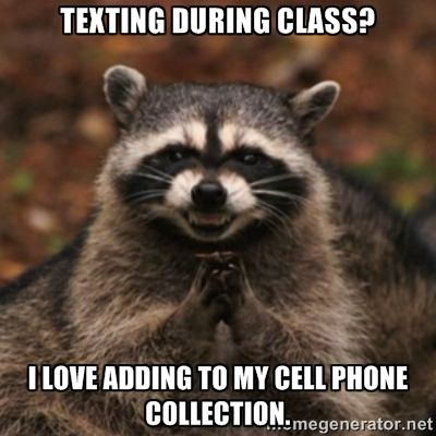texting in class meme