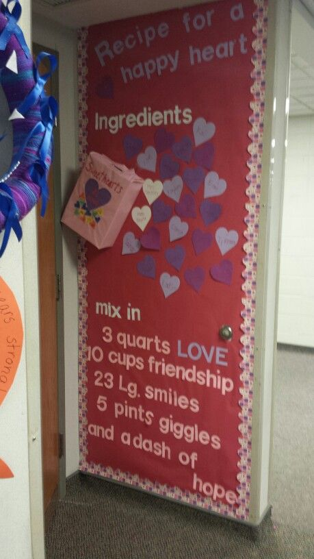 Adorable Valentine's Day Doors for Your Classroom_31_Bored Teachers