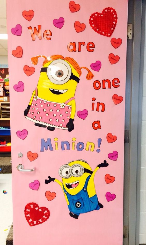 Adorable Valentine's Day Doors for Your Classroom_8_Bored Teachers