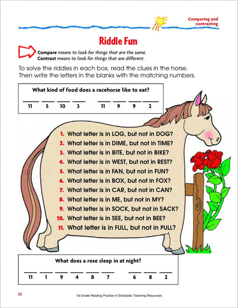 Scholastic Printables Riddle
