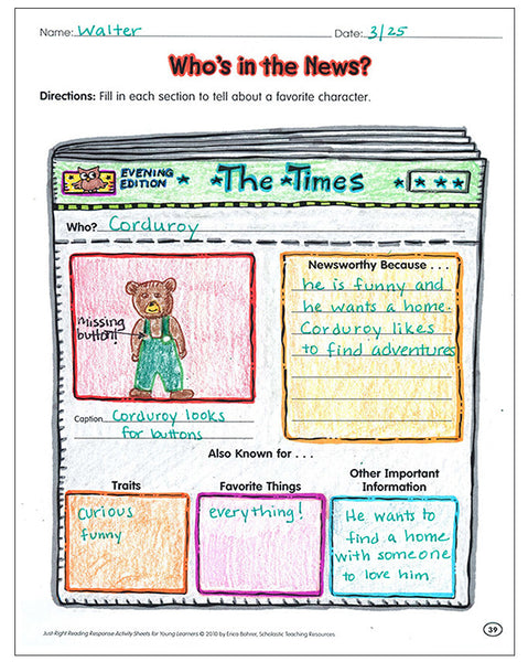 bored teachers book reports kindergarten grade 2