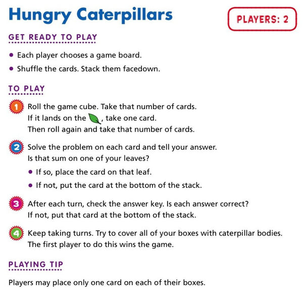 hungry caterpillars Scholastic Printables rules