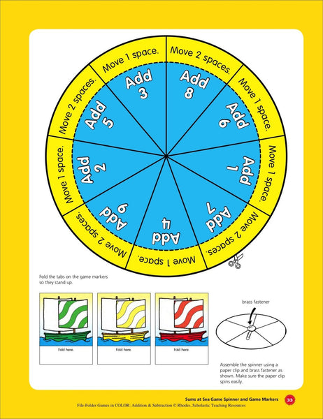 sums at sea spinner scholastic printables 2