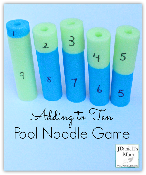 Adding To ten pool noodle game - Bored Teachers