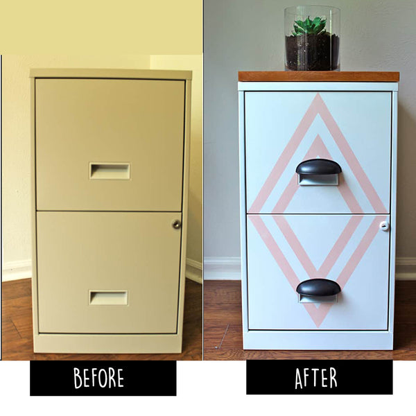All You Need Is Spray Paint And Painteru0027s Tape To Make This Beauty! File  Cabinet20_Bored Teachers