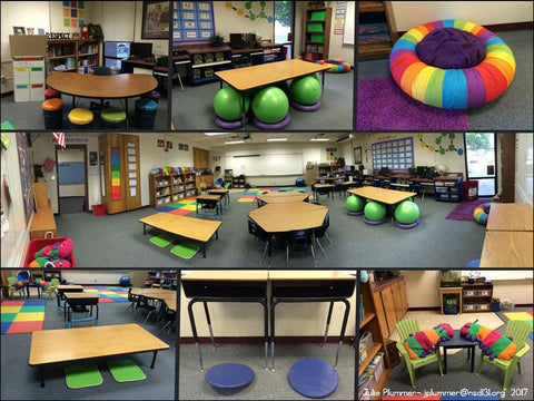 This First Grade Classroom In Nampa Idaho Was The School To Try Flexible Seating Last Year Since Then Majority Of Classrooms