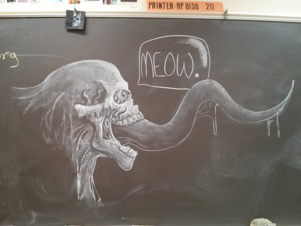 skull chalkboard_art teacher_Bored Teachers