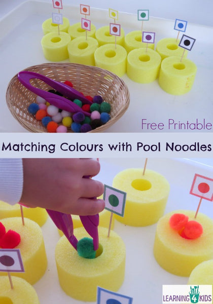 Matching Colors with Pool Noodles