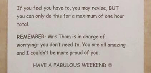 Mrs Thom home work assignment - Bored Teachers 4