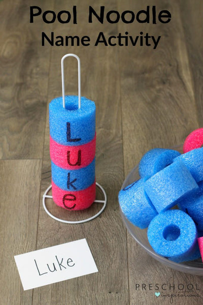 POOL NOODLE NAME RECOGNITION ACTIVITY - Bored Teachers