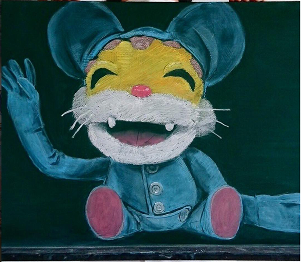 stuffed animal chalkboard_Japanese art teacher_Bored Teachers
