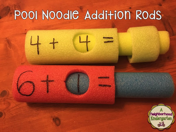 Pool Noodle Addition Rods - Bored Teachers
