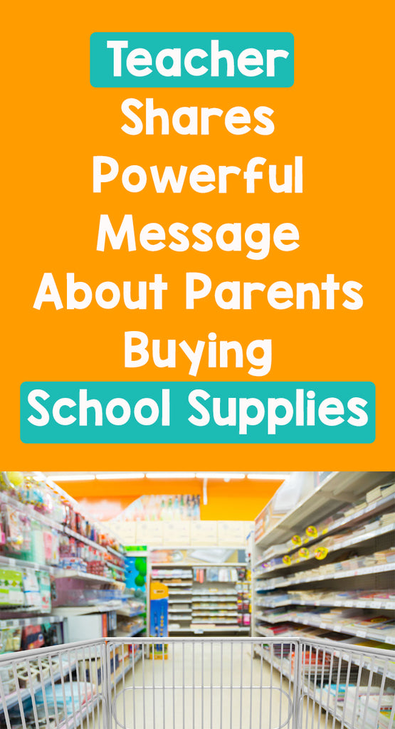 Teacher Shares Powerful Message About Parents Buying School Supplies_feature image