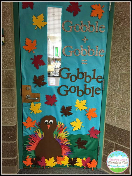 Thanksgiving Classroom Window Decorations : Thanksgiving door decoration ideas for your classroom