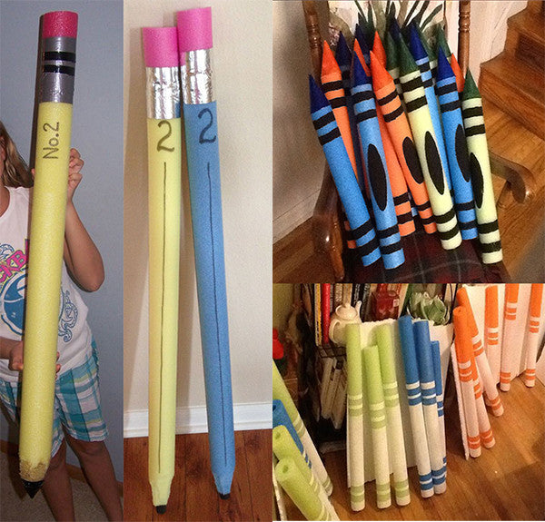 GIGANTIC pencils, crayons, and markers Pool noodle - Bored Teachers
