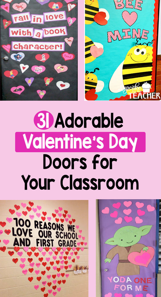 Adorable Valentine's Day Doors for Your Classroom_Bored Teachers