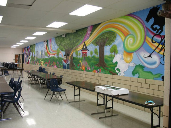 15 incredible cafeterias you wish you had in your school for Elementary school mural