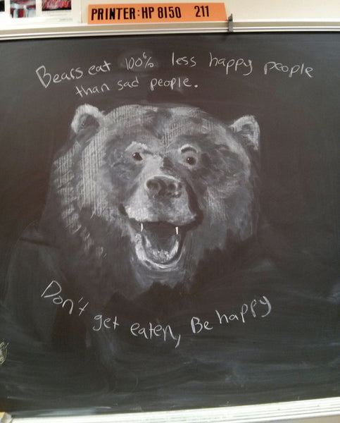 bear chalkboard_art teacher_Bored Teachers