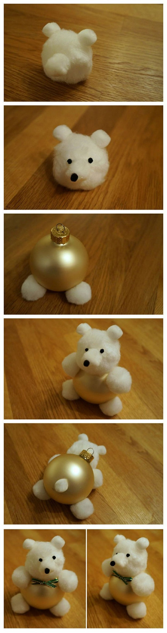 cotton ball teddy bear ornaments bored teachers