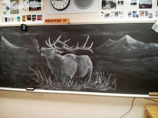 elk chalkboard_art teacher_Bored Teachers