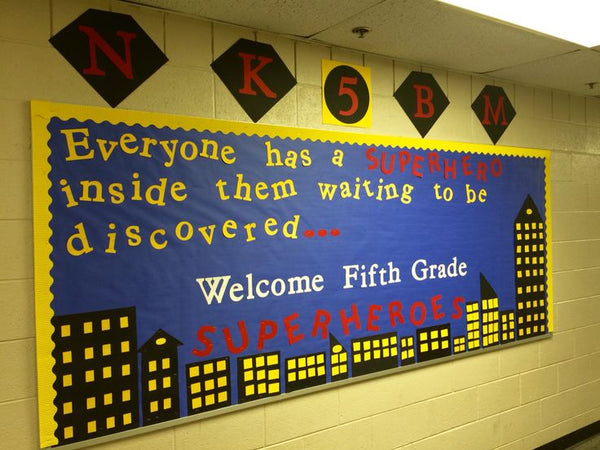 Elementary Super Hero Classroom Ideas ~ Awesome bulletin boards to spice up your classroom
