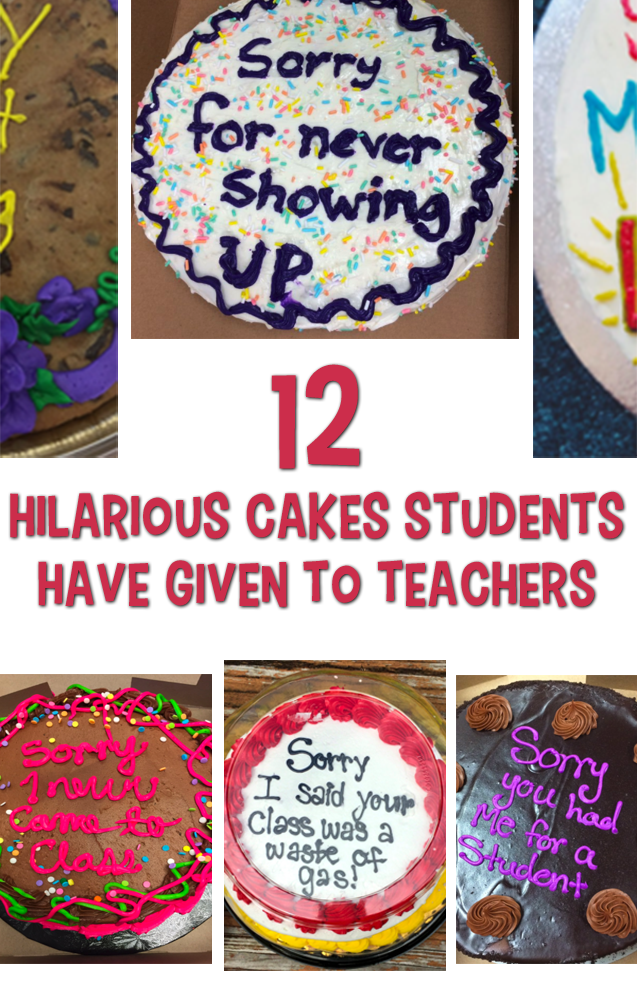 hilarious cakes for teacers feature image