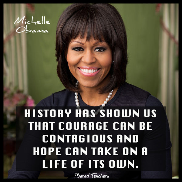 Black History Month Quotes- Michelle Obama - Bored Teachers