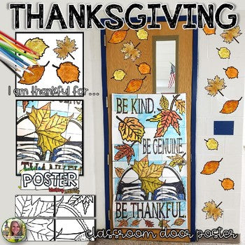 Thanksgiving door ideas for your classroom_15_Bored Teachers