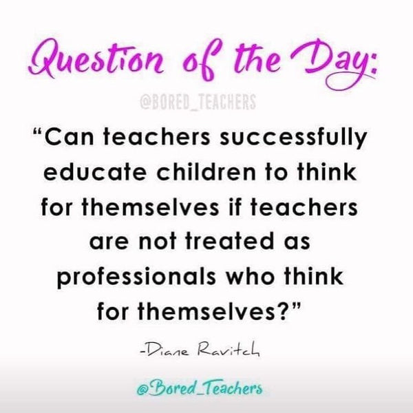 question of the day quote bored teachers