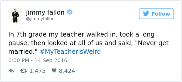 #myteacherisweird tweets bored teachers 1