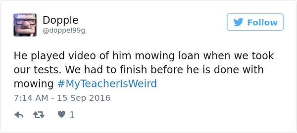 #myteacherisweird tweets bored teachers 11