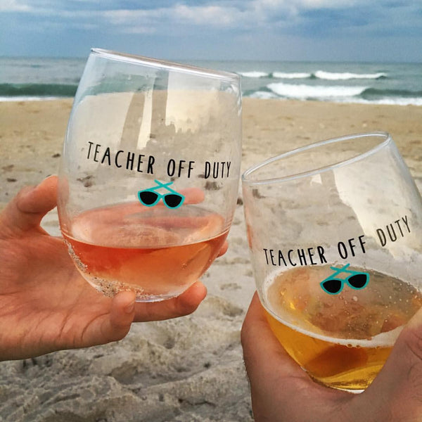 teacher off duty wine glass bored teachers