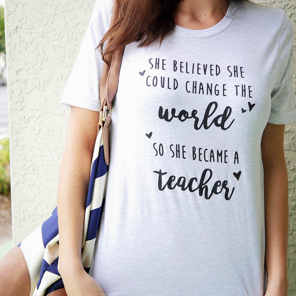 Change the World T-shirt Bored Teachers
