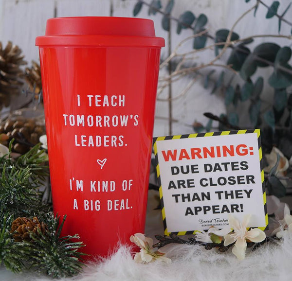 """Tomorrow's leaders"" Travel Mug (Red)"