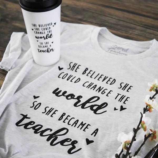 Change the World T-shirt mug Bored Teachers