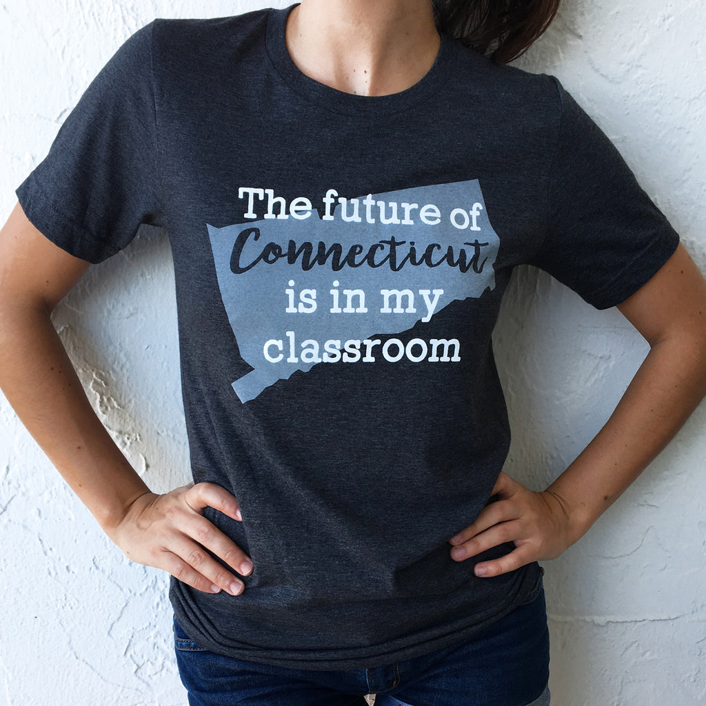 future of Connecticut state pride t-shirts bored teachers