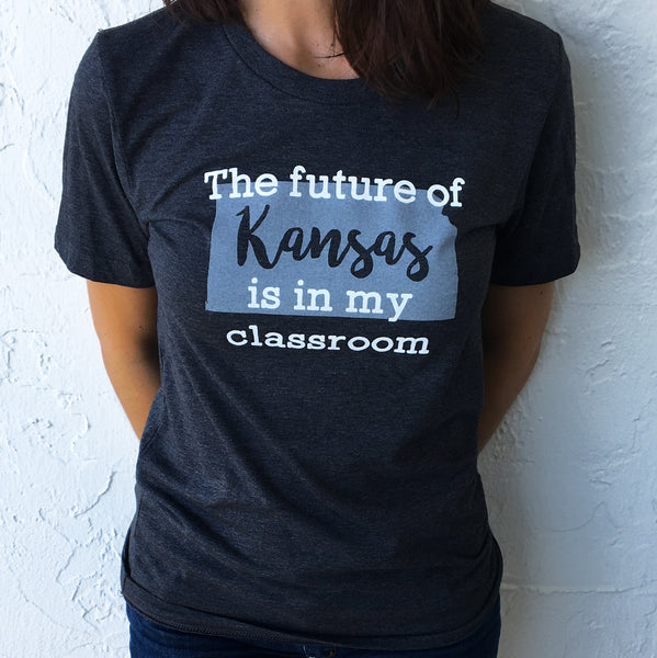 """Future of Kansas"" State Pride T-shirts bored teachers"