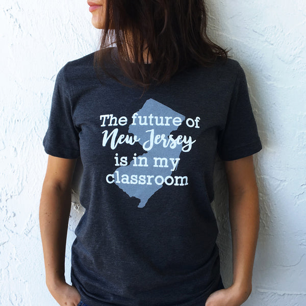 future of New Jersey state pride t-shirts bored teachers