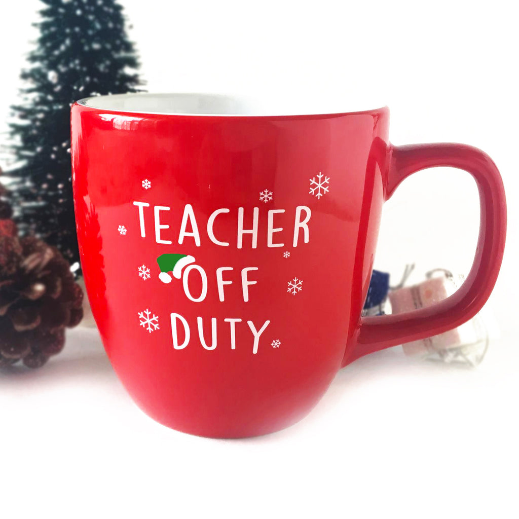teacher off duty holiday mug bored teachers