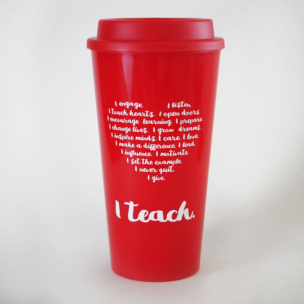 teacher travel mug heart I teach teacher appreciation day gift
