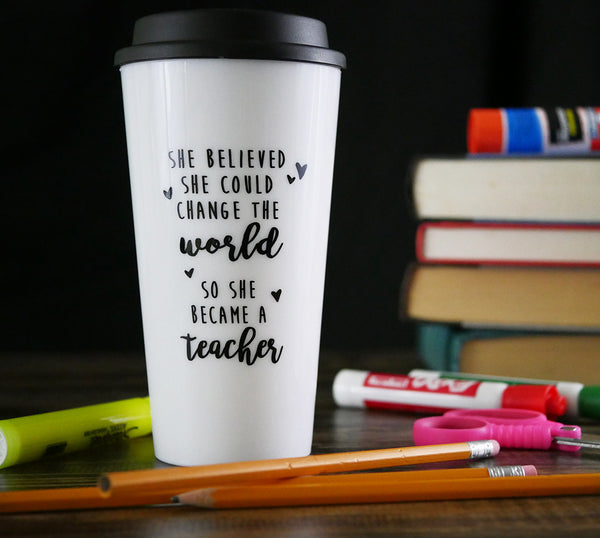 teacher travel mug change the world teacher appreciation gift