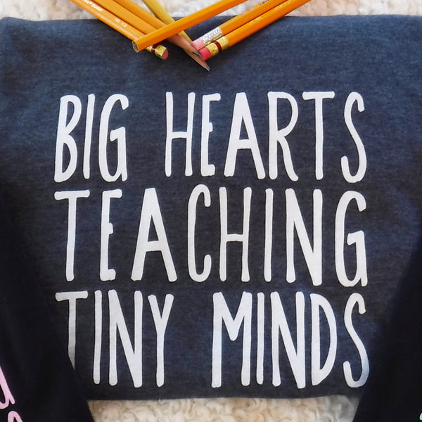 teacher t-shirt teacher gift tiny minds