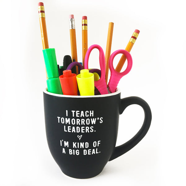 tomorrow's leaders teacher mug bored teachers