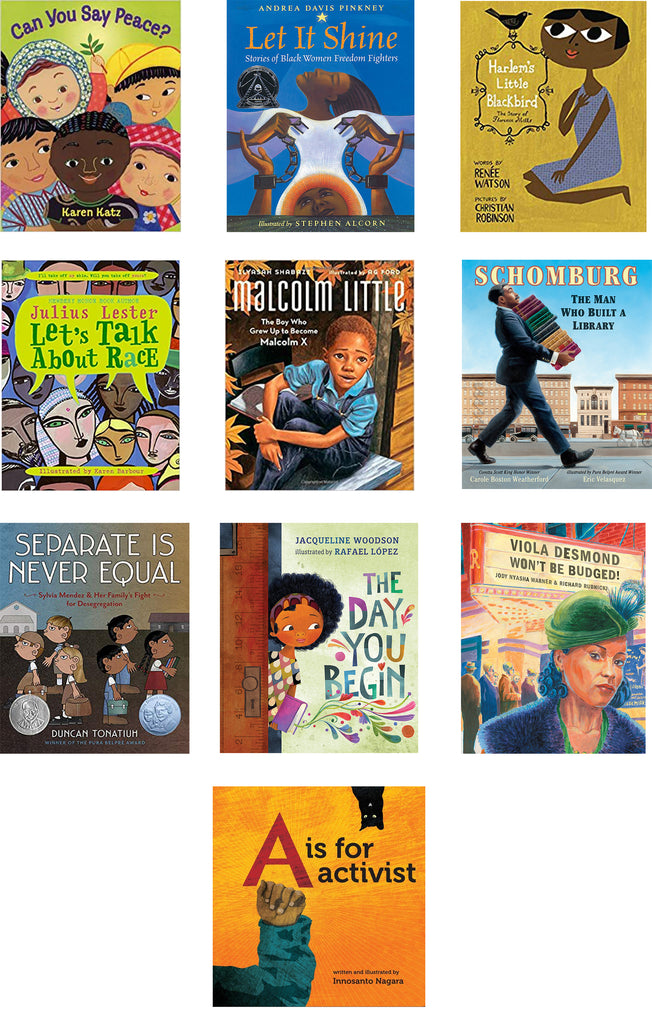 collection of children's books about racism and equality