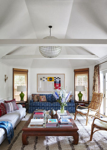 Minnie Driver living room