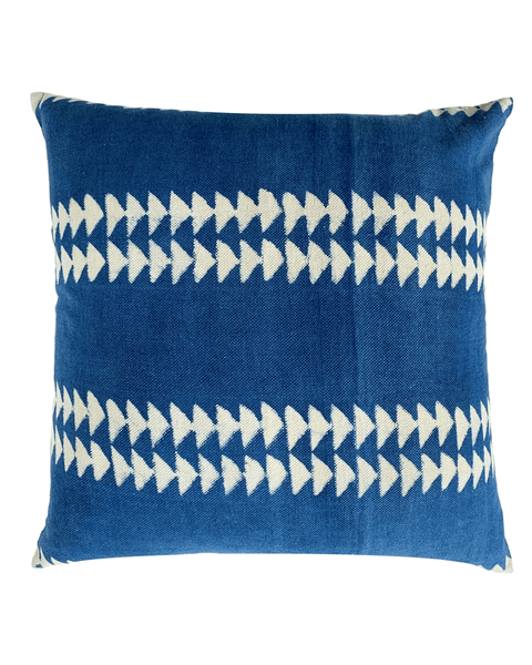 indigo triangle pillow