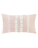 vines lumbar pillow in blush