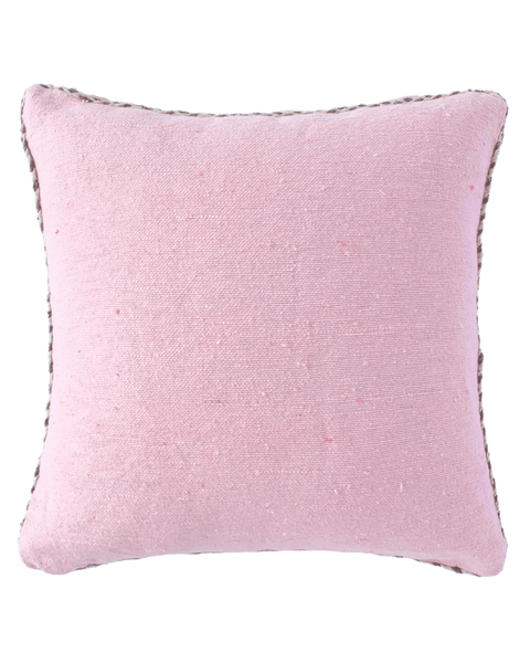 moroccan braided trim pillow in cherry blossom
