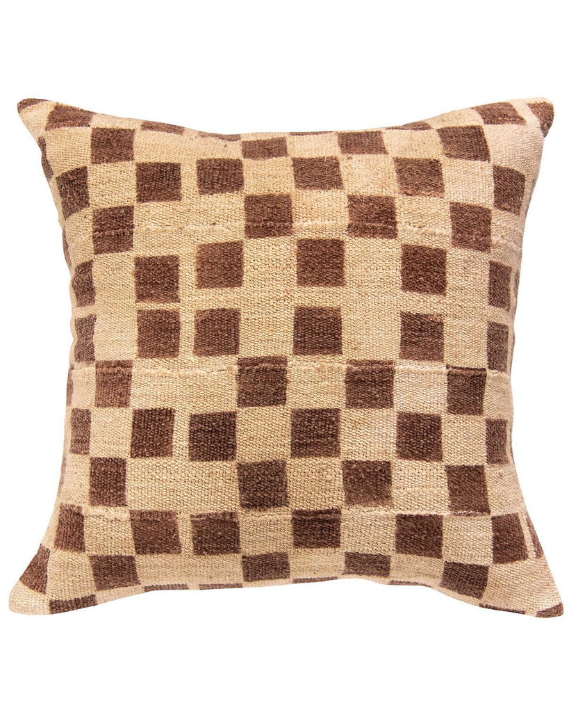 checkerboard mud cloth pillow
